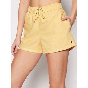Roxy Bavlnené šortky Love Square ERJNS03249 Žltá Regular Fit vyobraziť