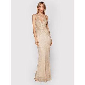 Babylon Večerné šaty N_MF5003 Zlatá Slim Fit vyobraziť