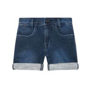 Boss Džínsové šortky J24694 D Tmavomodrá Regular Fit vyobraziť