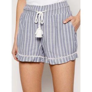 Roxy Bavlnené šortky Bold Blooms ERJNS03247 Modrá Beachy Fit vyobraziť