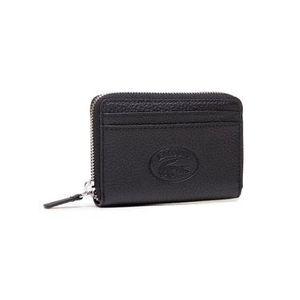 Lacoste Malá dámska peňaženka Xs Zip Coin Wallet NF3406NL Čierna vyobraziť