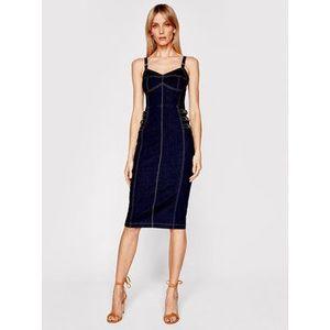 Elisabetta Franchi Džínsové šaty AJ-18S-11E2-V445 Tmavomodrá Slim Fit vyobraziť