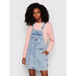 Tommy Jeans Džínsové šaty Cargo Dungaree DW0DW10107 Modrá Regular Fit vyobraziť