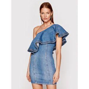 Elisabetta Franchi Džínsové šaty AJ-19D-11E2-V380 Modrá Slim Fit vyobraziť