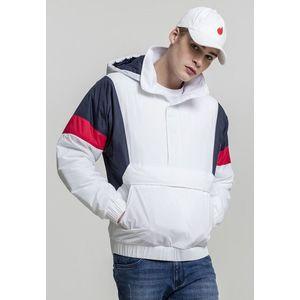 Urban Classics 3 Tone Pull Over Jacket white/navy/fire red - XL vyobraziť