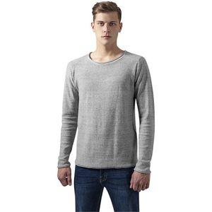 Urban Classics Fine Knit Melange Cotton Sweater grey melange - S vyobraziť