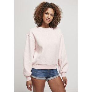 Urban Classics Ladies Oversized Color Melange Crewneck pink melange - S vyobraziť