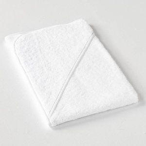 Dobrý Textil Detská osuška s kapucňou - Bílá / bílá vyobraziť