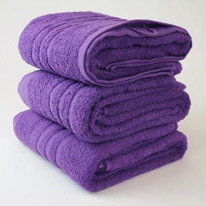 Dobrý Textil Osuška Economy 70x140 - Fialová vyobraziť