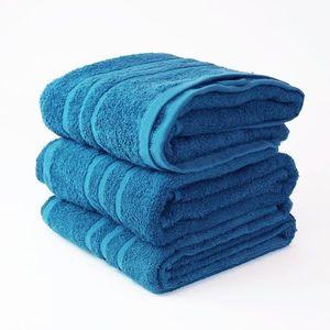 Dobrý Textil Osuška Economy 70x140 - Azurově modrá vyobraziť