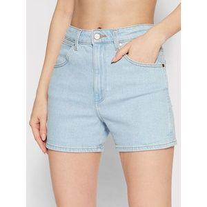 Wrangler Džínsové šortky W22DZH25E Modrá Mom Fit vyobraziť