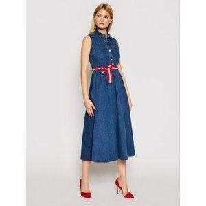 Liu Jo Džínsové šaty UA1168 D4435 Tmavomodrá Regular Fit vyobraziť