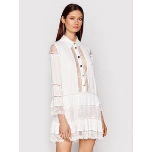 Babylon Košeľové šaty N_EL0701 Biela Regular Fit vyobraziť