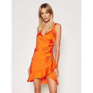 Guess Koktejlové šaty Larissa W1GK0W WCUN0 Oranžová Slim Fit vyobraziť