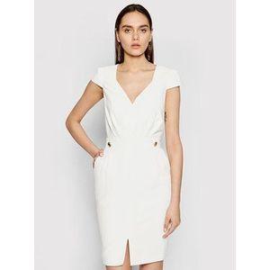 Marciano Guess Koktejlové šaty 1GG742 9529Z Biela Slim Fit vyobraziť