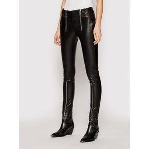 Rage Age Kožené nohavice Victoria 1 Čierna Slim Fit vyobraziť