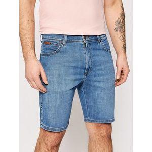 Wrangler Džínsové šortky Texas W11CQ187W Modrá Slim Fit vyobraziť