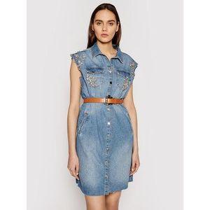 Liu Jo Džínsové šaty UA1059 D4549 Modrá Regular Fit vyobraziť