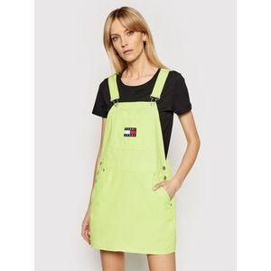 Tommy Jeans Džínsové šaty Tjw Dungaree DW0DW09915 Zelená Regular Fit vyobraziť