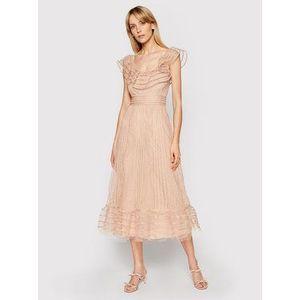 Red Valentino Večerné šaty VR0VA17K Béžová Regular Fit vyobraziť