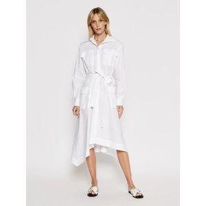 Iceberg Košeľové šaty 21EI2P0H0710650 Biela Regular Fit vyobraziť