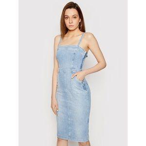 Guess Džínsové šaty Foulard W1GK19 D3ZT7 Modrá Slim Fit vyobraziť