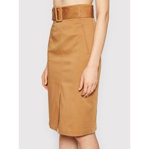 TwinSet Puzdrová sukňa 211MT2073 Hnedá Regular Fit vyobraziť