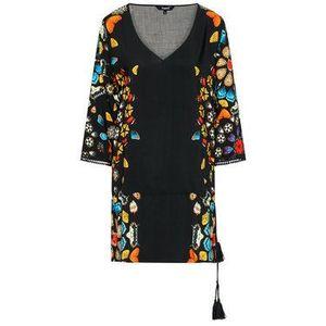 Desigual Plážové šaty Maui 21SWMW21 Čierna Regular Fit vyobraziť