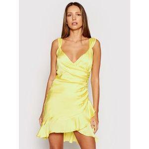 Guess Koktejlové šaty Larissa W1GK0W WCUN0 Žltá Slim Fit vyobraziť