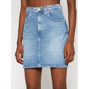 Wrangler Džínsová sukňa Mom W22VJH28X Tmavomodrá Slim Fit vyobraziť