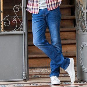 Tmavomodré džínsy s gombíkmi - 40 vyobraziť