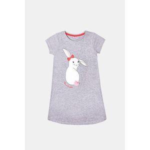 Dievčenská nočná košeľa Buny sivá vyobraziť