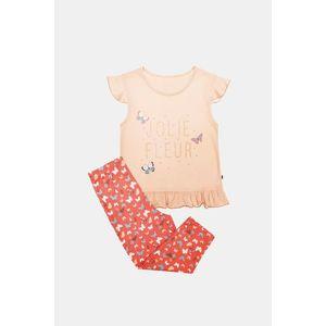 Dievčenské pyžamo Lila oranžové vyobraziť