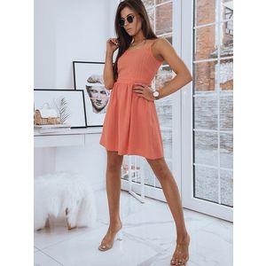 Pekné dámske šaty LOLA oranžovej farby. vyobraziť