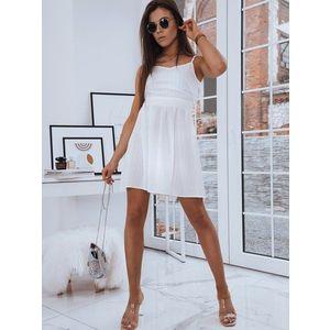 Dámske šaty LOLA v bielom prevedení. vyobraziť