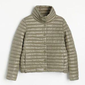 Reserved - Ľahká prešívaná bunda - Khaki vyobraziť