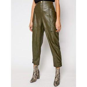 Pinko Kožené nohavice Billings PE 21 UNQS 1Q108A Y6VH Zelená Regular Fit vyobraziť