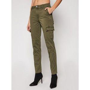 Guess Bavlnené nohavice Sexy Cargo W1RB14 WDPA1 Zelená Slim Fit vyobraziť