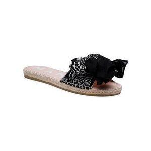 Manebi Espadrilky Sandals With Bow G 5.6 J0 Čierna vyobraziť