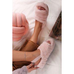 Ružové plyšové sandále Pilar vyobraziť
