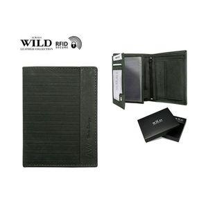 Čierna prešívaná peňaženka pre pánov WILD vyobraziť