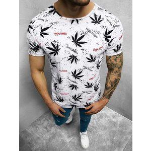 Bielo-čierne tričko s modernou potlačou O/BL51 vyobraziť