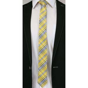 Žltá károvaná pánska kravata vyobraziť
