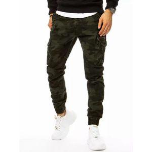 Maskáčové tmavo-zelené kapsáčové nohavice vyobraziť