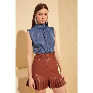 Trendyol Blue Collar Detailed Blouse vyobraziť
