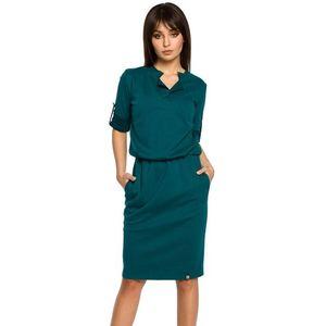 Tmavozelené šaty BE 056 vyobraziť