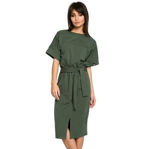 Tmavozelené šaty BE 062 vyobraziť