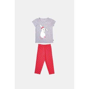 Dievčenské pyžamo Buny sivo-oranžové vyobraziť