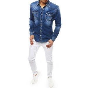 Men's denim blue shirt DX1832 vyobraziť