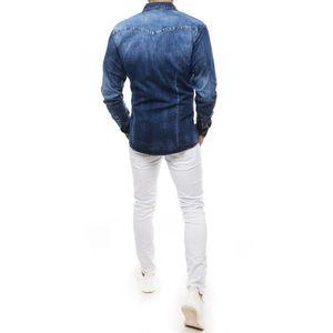 Men's denim blue shirt DX1842 vyobraziť